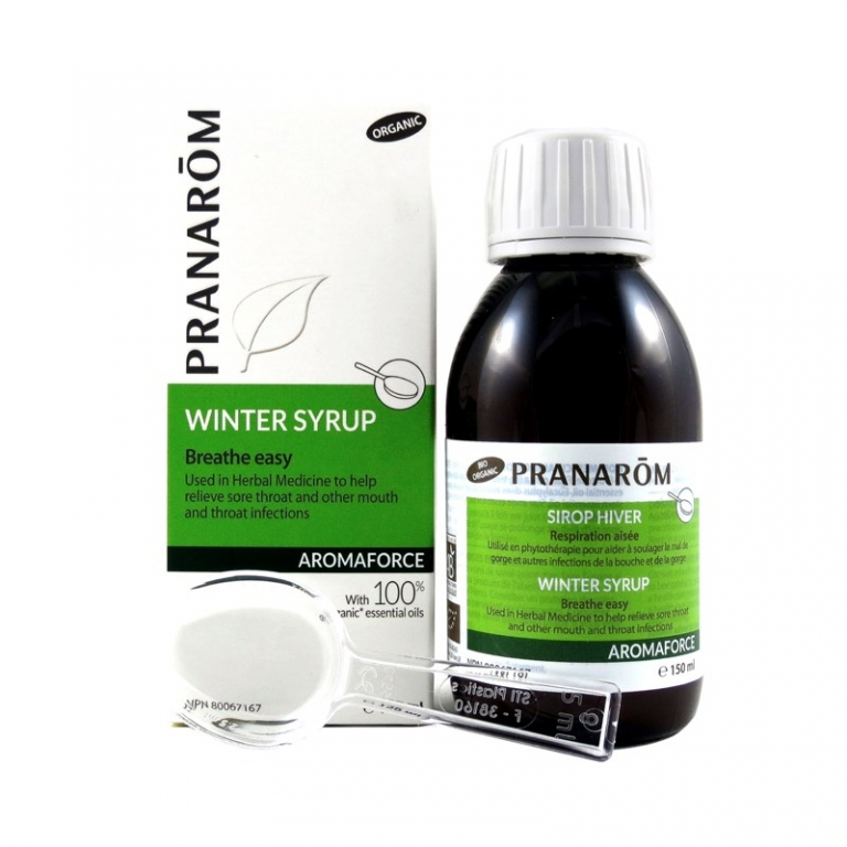 Pranarom Winter Syrup with 100% Chemotyped Essential Oils