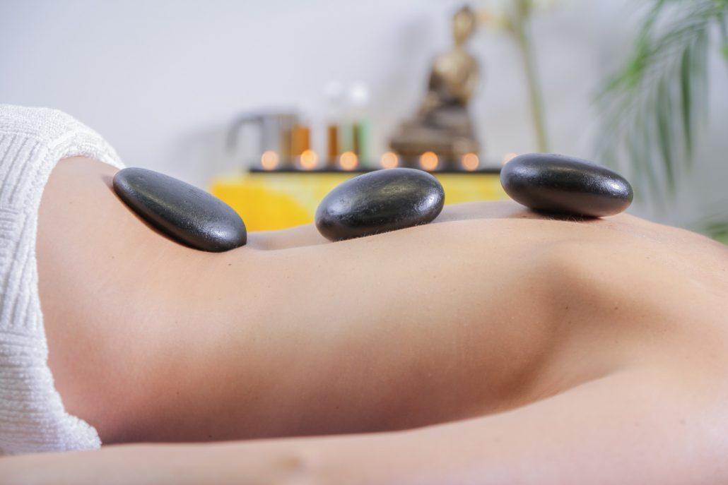 Woman receiving aromatherapy massage